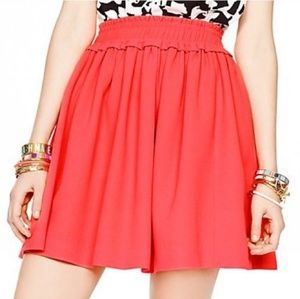 Kate Spade Crepe Gathered Skater Skirt